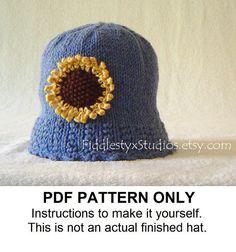 KNITTING PATTERN  Girls Knit Hat PATTERN  by FiddlestyxStudios, $5.50