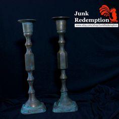 Vintage brass candlestick holdres