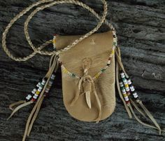 Primitive Hudson Bay Mountain Man Trapper Medicine Bag by misstudy, $52.00