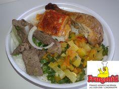 Prato do dia: Carne acebolada, frango assado, massa, refogado de legumes, arroz com feijão mais salada... 43-3329-3568