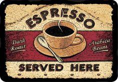 Imagem 1 - Placa Adesivada Café Expresso 28x40