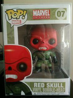 Funko POP! Marvel RED SKULL 07 Vinyl Bobble-Head. Captain America RARE retired #captain #america #rare #retired #head #bobble #marvel #skull #vinyl #funko
