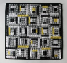 miniture log cabin quilt pattern