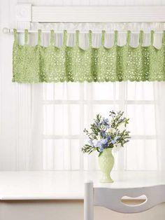 free crochet curtain patterns daisy valance | crochet tricks