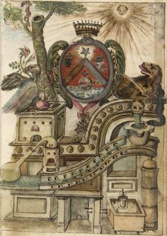 ☤alquimia - alchemical images from the Beinecke Library Nicolas Flamel, Occult Symbols, Occult Art, Medieval, Alchemy Art, Esoteric Art, A Discovery Of Witches, Tarot, Book Of Shadows