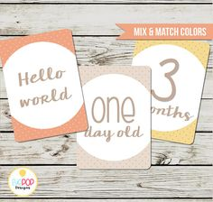 Baby Milestone Cards, Gender Neutral, Monthly, Photo Prop, First Year, Photo Signs, Print, Instant Digital Download Adoption Baby Shower, First Year Photos, Baby Milestone Cards, World Days, Monthly Photos, 1 Year Olds, Baby Milestones, Sign Printing, Baby Month By Month