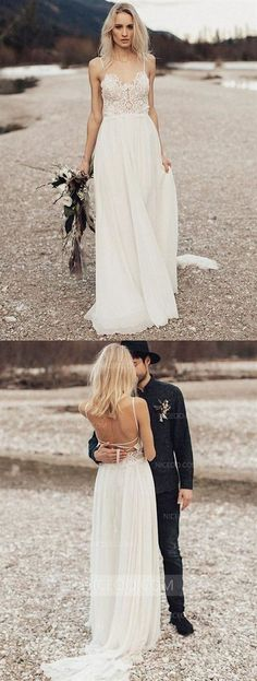 Elegant Prom Dresses, A-Line Spaghetti Straps Long Chiffon Wedding Dress with Lace Shop for La Femme prom dresses. Elegant long designer gowns, sexy cocktail dresses, short semi-formal dresses, and party dresses. Pageant Dresses For Teens, 2 Piece Homecoming Dresses, Elegant Bridesmaid Dresses, Rustic Wedding Dresses, Wedding Dress Chiffon, Tulle Prom Dress, Cheap Wedding Dress, Lace Dress, Weding Dresses