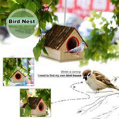 Creative Bird Nest Simulated Bark House Shape Bird Breeding Box Pet Toys Bird Cages, Winter Is Coming, Bee Keeping, Pet Toys, Pet Supplies, Nest, Dog Cat, Shapes, Box