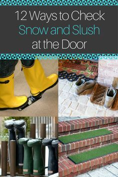 While a snowy winter can be beautiful, the slush, salt, and mud it leaves behind are not quite as appealing. Keep grime contained and protect your floors with one of these quick buy or DIY fixes for storing shoes, scrubbing surfaces, and even preventing dangerous slips and falls.