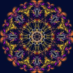 que fleurissent les mots ! that bloom words! que palavras florescem ! Mandala de Pierre Vermersch Digital Drawings
