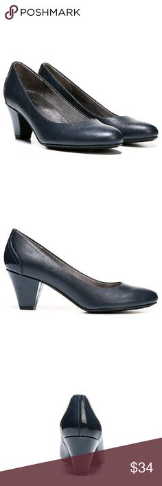 Life Stride Navy Shoes MEMORY FOAM 8 NIB Life Stride Navy Shoes MEMORY FOAM 8 NIB  Complete your ensemble with the elegant style of these women's dress pumps from Life Stride. Sleek design. Non-skid sole. Synthetic upper. Manmade lining & outsole. Round toe. Slip-on. Memory foam footbed. 2.5 inch heels.  New In Box size  8   Buy 3 or More Items and Get 20% OFF Your Purchase :) ENJOY!!! Life Stride Shoes Heels
