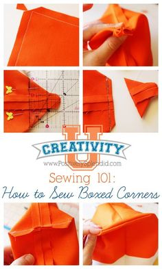 Tutorial at Positively Splendid: How to Sew a DIY Boxed Corner
