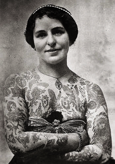 Edith Burchett, wife of tattoo artist : Amazing Tattoo Designs From 1870 To Today | Co.Design | business + design