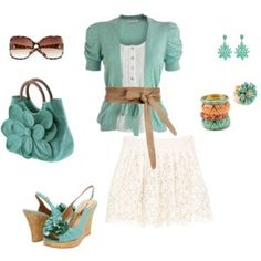 Cute purse and sweater! Great combination! Like everything except the skirt. VTP
