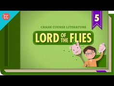 This week, John i s talking about one of his least favorite novels, The Lord of the Flies by William Golding. Lord of the Flies is a novel of ideas, and John. Crash Course Literature, Ap Literature, British Literature, Education English, Teaching English, Ela Classroom, English Classroom, Classroom Ideas, 8th Grade Ela