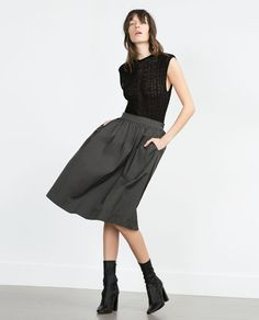 Image 1 of MIDI SKIRT from Zara