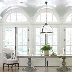 Light Light Light!  Love the airy feel and high gloss ceiling
