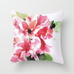 watercolor+floral+2+Throw+Pillow+by+Dalbir+Design+Services+-+$20.00