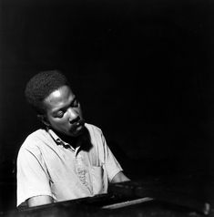 Sonny Clark at his Leapin' and Lopin' session, Englewood Cliffs NJ, November 13 © Francis Wolff Englewood Cliffs, Francis Wolff, Jazz Musicians, November 13, Masters, Piano, 1960s, Photography, Master's Degree