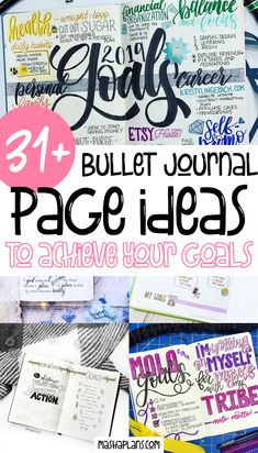Learn how to use your Bullet Journal to set and crush your goals! Plus get free printable goal setting Bullet Journal spreads to add to your journal right away. Also, check out 31  goals Bullet Journal pages to inspire your creativity. #mashaplans #bulletjournal #bujoinspo #goals