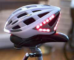Instead of clipping & zip-tying lights onto your helmet for those cool night rides, the Lumos has a much cleaner & more aerodynamic solution