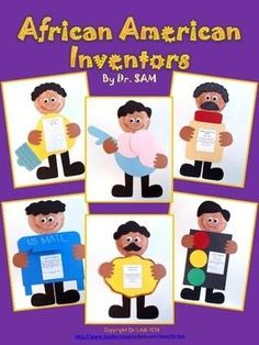 Do you need cute and easy crafts for Black History Month? You got it! This set has SIX crafts or craftivities of African American inventors and their inventions: George Carver, George Crum, Lewis Latimer, Garrett Morgan, Philip Downing, and Alfred Cralle.