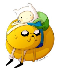 Adventure Time with Finn and Jake.