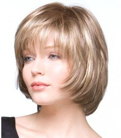 Wholesale blonde straight short bob wigs for black women, african american short wigs with bangs free ship Wigs With Bangs, Haircuts With Bangs, Messy Bob Hairstyles, Wig Hairstyles, Straight Hairstyles, Short Bob Wigs, Short Hair Cuts, Bangs And Balayage, Medium Hair Styles