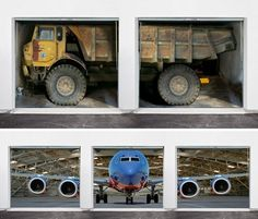 Garage optical illusion billboards