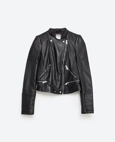 LEATHER BIKER JACKET-View All-LEATHER-WOMAN | ZARA United States