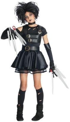 Edward Scissorhands - Miss Scissorhands Tween  Halloween Costume #RubiesCostumeCo #CompleteCostume