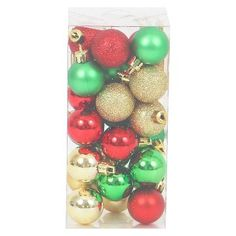 60 Piece Holiday Shatterproof Christmas Ornament Set  Products