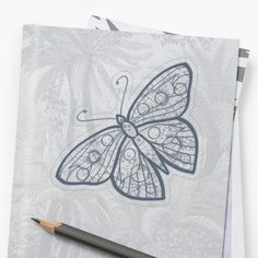 """""""Butterfly Drawing"""" Sticker by meleyart Butterfly Drawing, Plastic Stickers, Canvas Prints, Art Prints, Transparent Stickers, Sticker Design, Iphone Case Covers, Cotton Tote Bags, Stationery"""