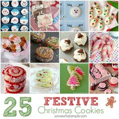 25 Festive Christmas Cookie Ideas - Somewhat Simple