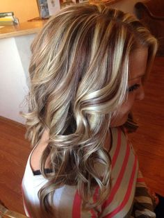 multi-colored highlights on a brown base - Styleoholic