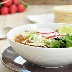 Mexican Posole is a traditional hearty #soup.  In my opinion - better than tortilla soup!  A favorite!