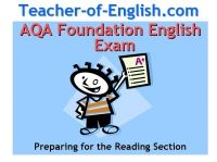 AQA Foundation Reading  English Exam