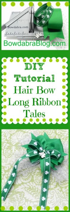 diy hairbows for St Patricks Day
