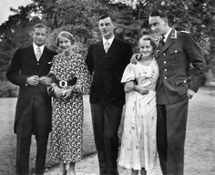 Princess Alexandrine, 2nd from right, with 4 of her 5 siblings, (from left): Prince Friedrich Georg, Princess Cecilie, Prince Wilhelm and Prince Louis Ferdinand with his arm lovingly and protectively around his little sister. Alexandrine was born with Down's Syndrome, but was always included in family activities.