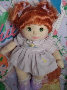 My Child Doll - US 1985 ~ I had one of these, I named her Vanessa. Their bodies were fuzzy soft.