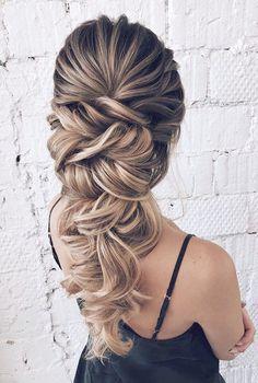 Rapunzel style wedding braid long hair for bride or bridesmaids