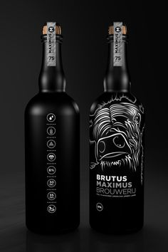 Maximus Brouwerij, 75 cl. bottle Brutus by Leffe Goldstein, via Behance Wild beer #packaging PD