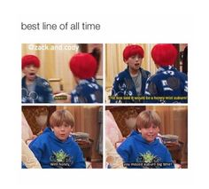 The Suite Life of Zack & Cody xD Stupid Funny, Funny Cute, The Funny, Funny Stuff, Funny Things, Disney Pixar, Disney Memes, Funny Disney, Disney Films