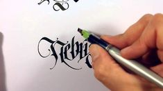 Mindcrack Calligraphy - Nebris by Thomas Brunton (Uvulus) Calligraphy Video, Calligraphy Tutorial, Lettering Tutorial, Beautiful Calligraphy, Beautiful Fonts, Free Handwriting, Beautiful Handwriting, Best Pens, Types Of Lettering
