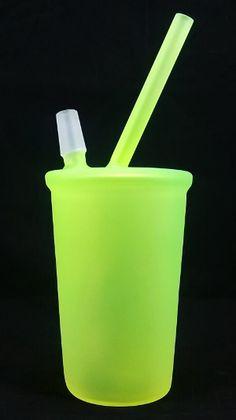 b4340cb0ab9 Great Spirit Glass - Sandblasted Lime Green Cup Dab Rig