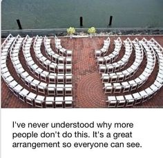Good idea for seating layout for prize-giving, graduation ceremonies, prefects' installation, etc