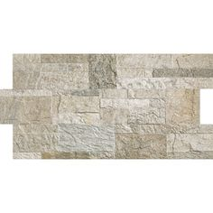 Shop Style Selections 12-in x 24-in Rockstyle Silver Glazed Porcelain Wall Tile (Actuals 22.2-in x 11.81-in) at Lowes.com