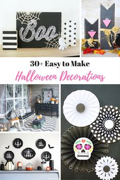 Want cute and scary halloween decorations that are easy to make? These halloween decor ideas will get the party started and the kids involved.