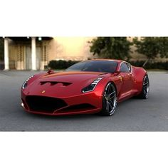 Angry Car Designer dreams up a Ferrari 612 GTO ❤ liked on Polyvore featuring cars, vehicles, carro, pictures and rides