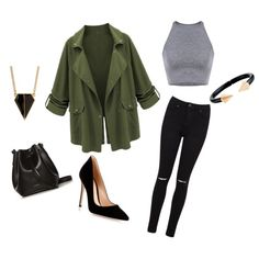 A fashion look from June 2015 featuring cropped tank top, green jacket and stretch jeans. Browse and shop related looks. Cropped Tank Top, Crop Tank, Tank Tops, Green Jacket, Simple Outfits, Stretch Jeans, Miss Selfridge, Rebecca Minkoff, Fashion Looks